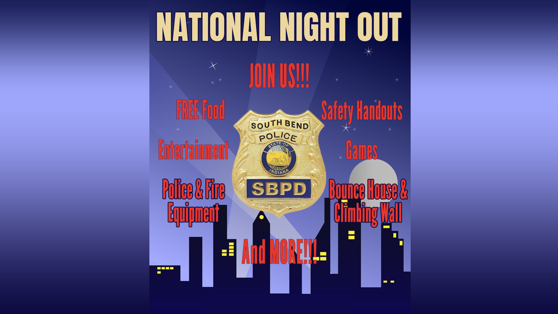 South Bend Police Department's National Night Out Event